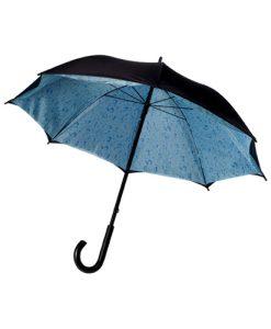 Dvoslojni dežnik z motivom dežnih kapelj ali oblakov